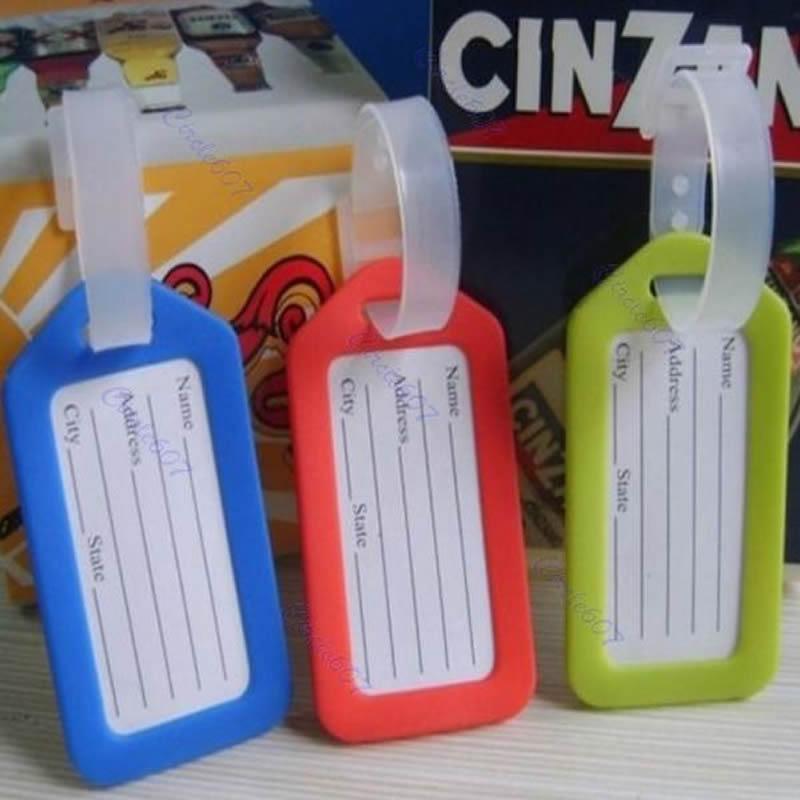 THINKTHENDO 10pcs/lot Colorful Plastic Travel Luggage Suitcase Baggage Travel Bag Address Lable Tags