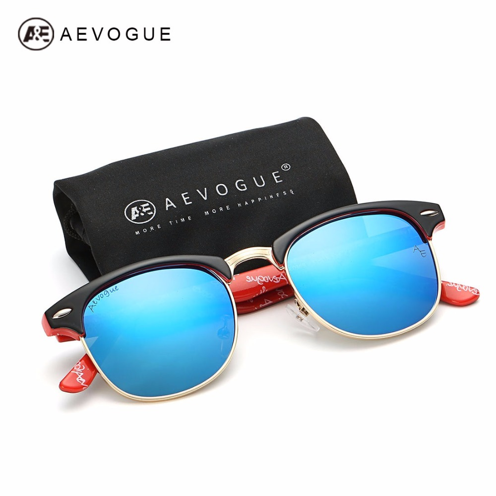 AEVOGUE Polarized Sunglasses Lelaki Retro Rivet High Quality Polaroid Lens Summer Style Design Brand Unisex Sun Glasses CE 0369