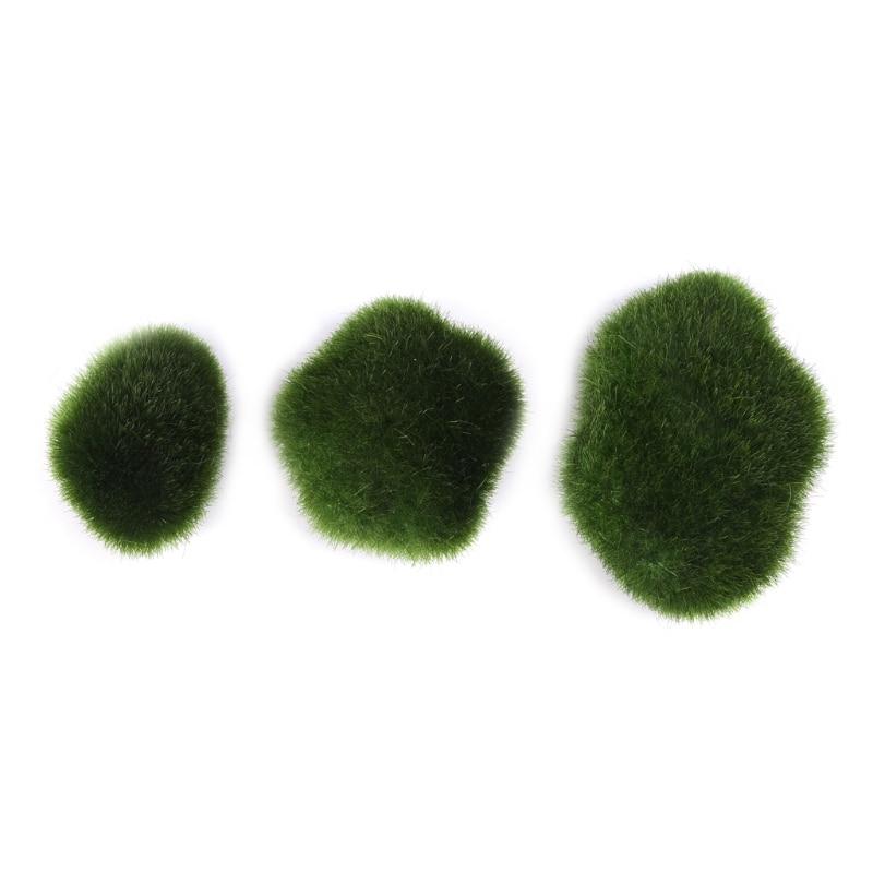 10pcs Moss Balls Decorative Stone Artificial Simulation Garden Plant