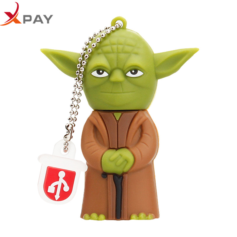 Image 2 - XPAY Usb flash drive 2.0 cartoon Silicone 32GB 128GB pendrive 4GB 8GB 16GB 64GB all styles darth vader Pen drive free shipping-in USB Flash Drives from Computer & Office