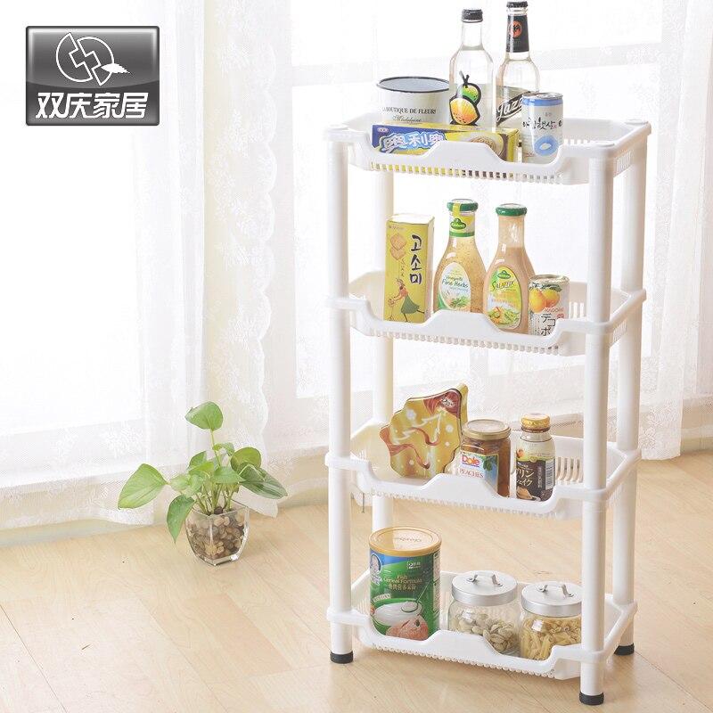 Kuchyňské sady víceúčelové vyjímatelné multifunkční 4 vrstvy roh police drobnosti komodity Stroage Rack dům dekor