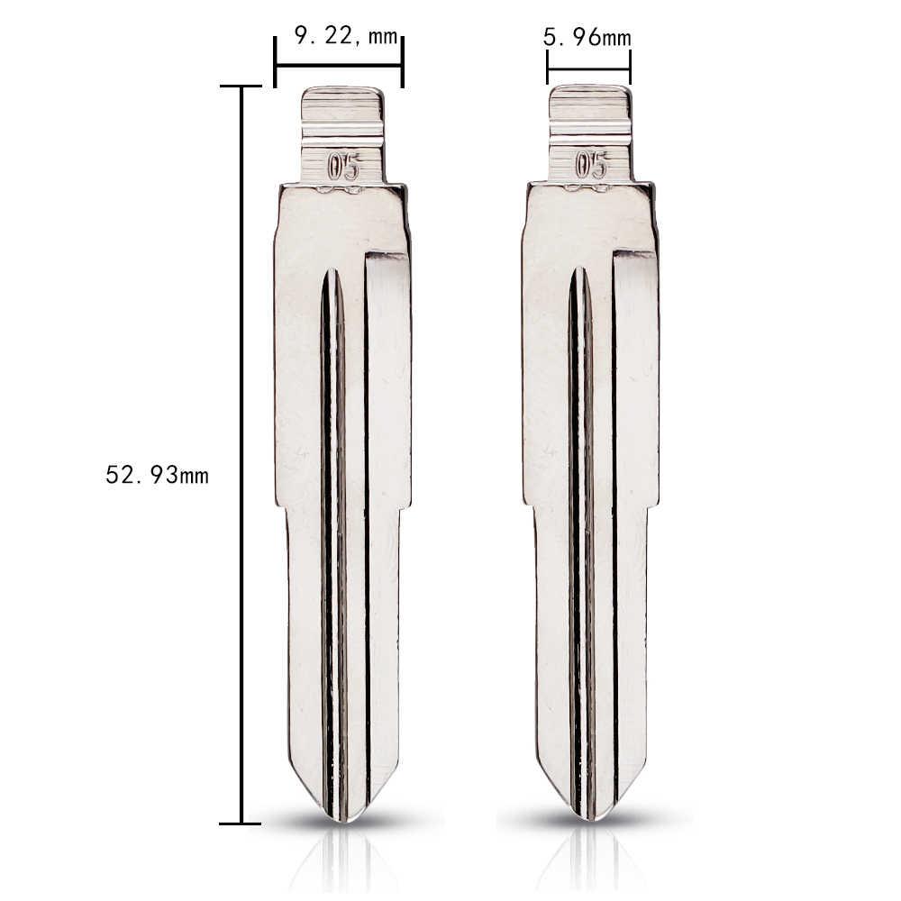 KEYYOU Metalen Blank Ongecensureerd Flip KD Remote Key Blade Type #05 voor Grote Muur voor Suzuki Wagon R voor chevrolet Spark