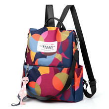 Fashion Women Simple Trend Oxford Student Bag Female Soft Zipper Versatile Backpacks Travel anti-theft outdoor backpack