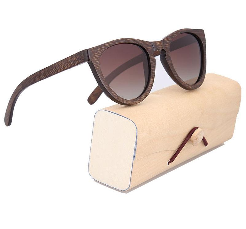 POP AGE Men Brand Designer Sun Glasses Brown Bamboo Eyeglass Frame ...