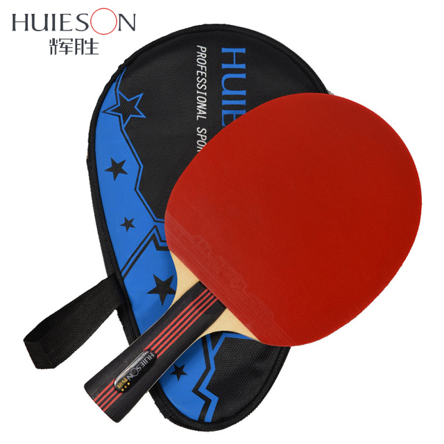 Huieson 3 Star Table Tennis Racket Pimples-in Rubber Table Tennis Bat Ping Pong Paddle with Bag for Children Top Quality Hotsale