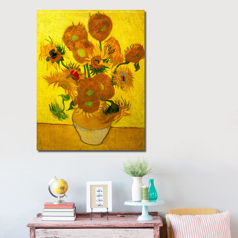 Full Diamond Painting Still Life Vase With Fifteen Sunflowers Diy Diamond Embroidery Van Gogh Post Impressionism