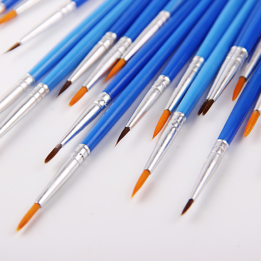 10 Pcs/Set Fine Hand Painted Thin Hook Line Pen Blue Art Supplies Drawing Art Pen Paint Brush Nylon Brush Painting Pen цены