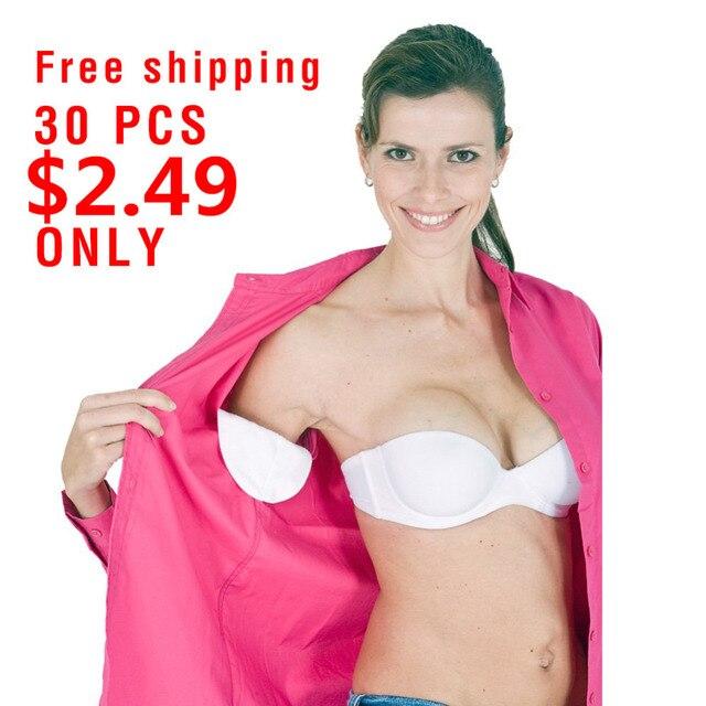 30 unids/lote desechables protector las axilas sudor de axilas vestido ropa escudo absorber desodorante antitranspirante salud