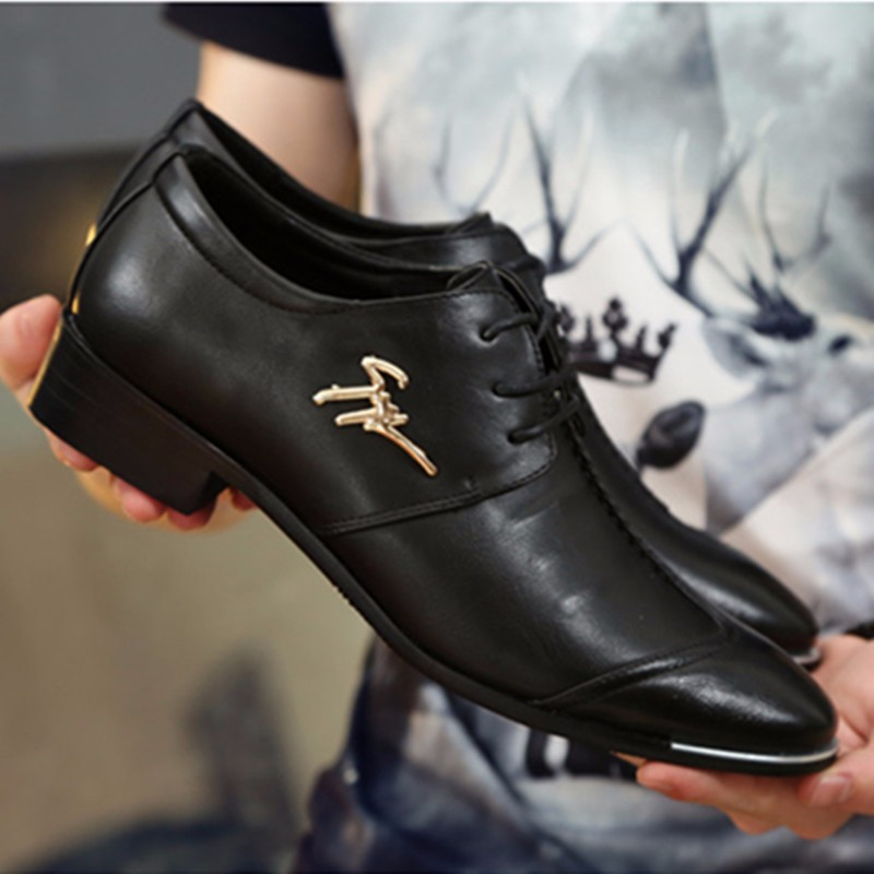 KUYUPP Fashion Men Oxfords Leather Shoes 2016 Round Toe Lace Up Men\'s Dress Shoes Summer Casual Flats Size 38-43 Mocassin PX115 (10)