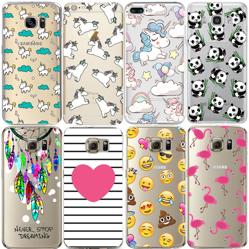 Flamingo Case For iPhone 7 Plus 5S 5C SE 6 6S Cover for Samsung Galaxy Grand Prime J3 J5 A3 A5 2016 2017 S5 S6 S7 Edge S8 Plus