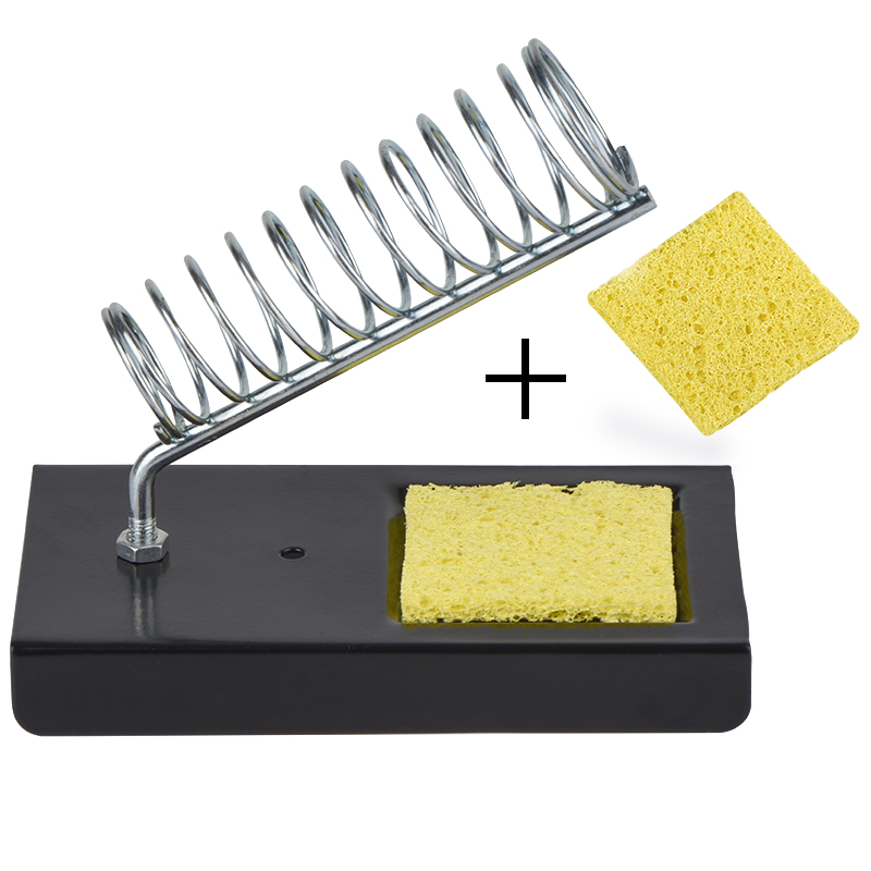Electric Soldering Iron Stand Holder with Welding Cleaning Sponge Pads for Free