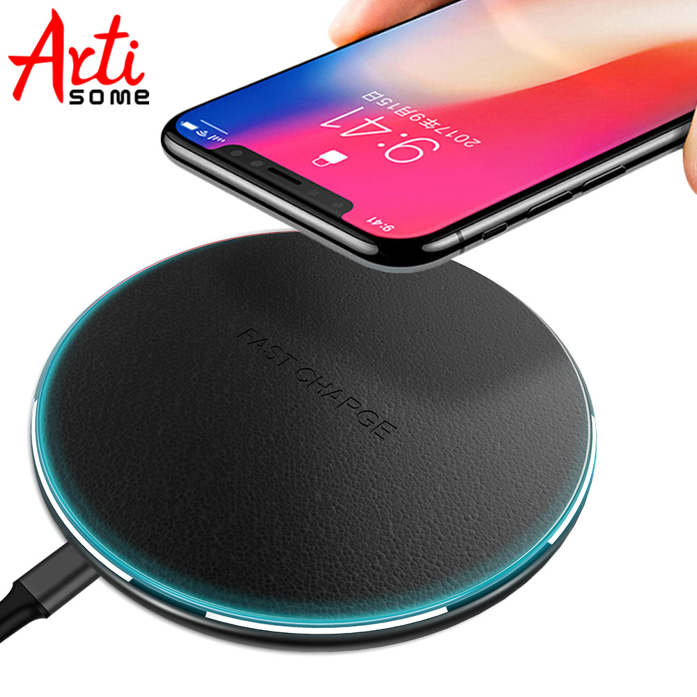 Artisome Wireless Charger For Samsung Galaxy S8 S8 Plus S6 S7 Edge Note 5 Wireless Charging Charger For iPhone X 8 Plus