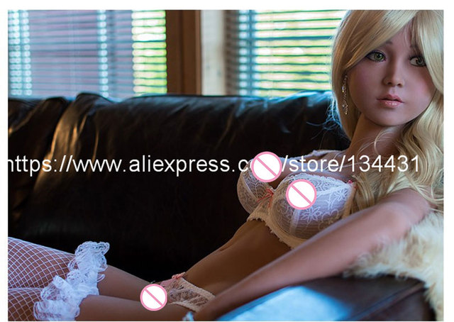 Top Quality 140cm Real Silicone Sex Dolls, Vagina Pussy Lifelike Love Dolls,Japanese Metal Skeleton Adult Big Breast Sex Dolls
