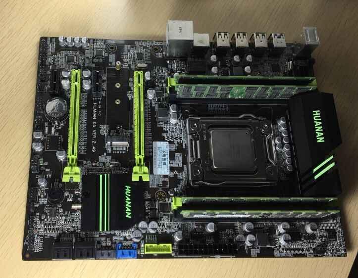 HUANAN ZHI V2.49 X79 scheda madre LGA2011 ATX combo E5 2680 C2 SR0KH 4x4G 16GB 1333Mhz USB3.0 SATA3 PCI-E NVME M.2 SSD