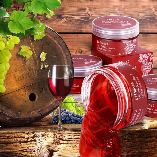 LAMILEE Red Wine Essence Sleeping Mask No Wash Moisturizing Night Cream Anti Aging Anti Wrinkle Nutrition Facial Cream 105g