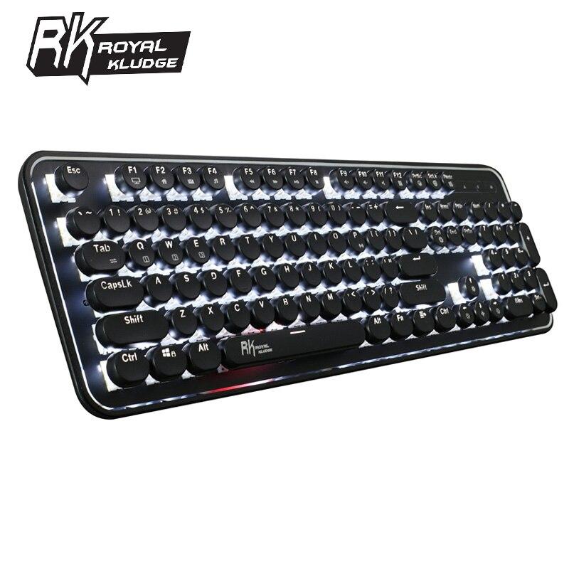 Royal Kludge RK960 clavier de jeu mécanique bluetooth filaire double Mode blanc rétro-éclairé clavier Rechargeable clavier ergonomique