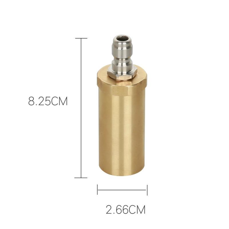 Image 2 - High pressure pure copper rotary nozzle 3600PSI domestic 360 degree ceramic spool wash nozzle-in Water Gun & Snow Foam Lance from Automobiles & Motorcycles