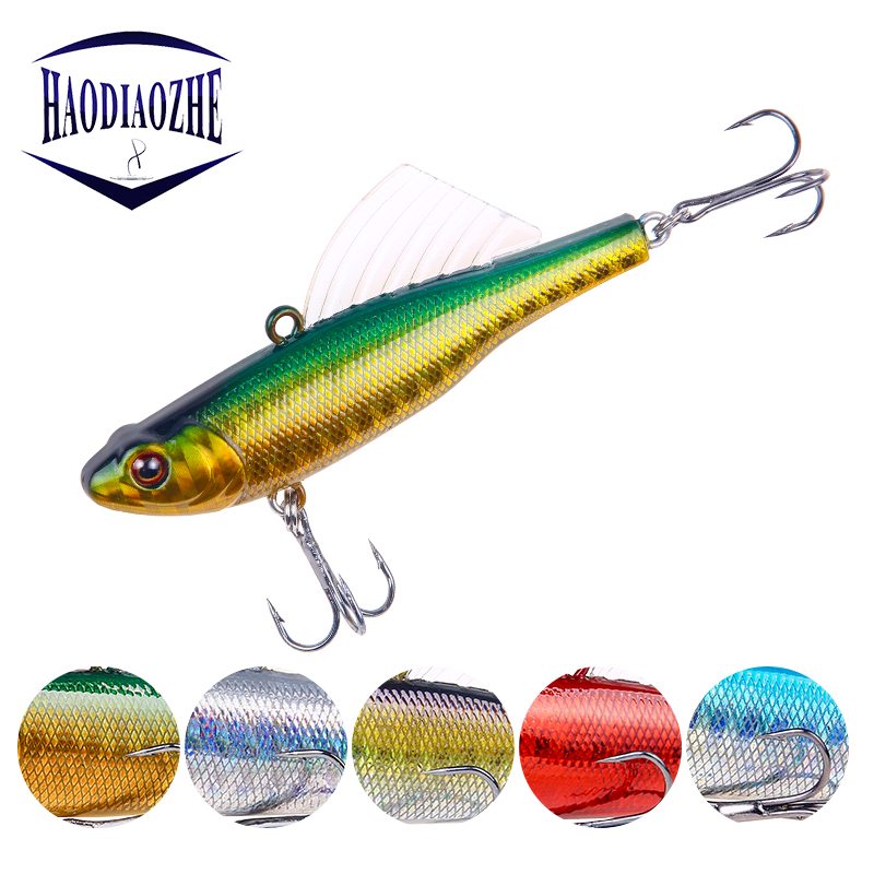 Winter Sea Hard Fishing Lure 6.5cm 17g VIB Bait With Lead Inside Diving Swivel Jig Wing Wobbler Crankbait Pesca Fishing Tackle
