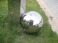 25 CM RONDE Boule de Globe en acier Inoxydable boule de décoration 25 cm creux miroir lumière sans soudures flotteur Paysage métal balle