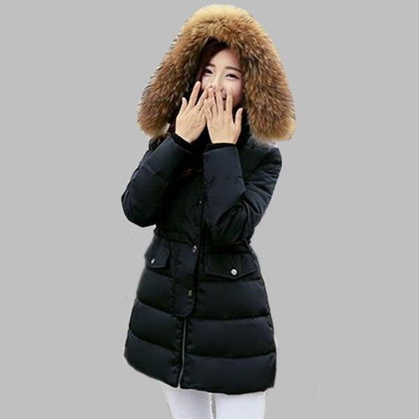 Women's Hooded Cotton-Padded Jacket Winter Long Cotton Coat Plus Size Down Jacket Female Warm Slim Ladies Jackets Coats M-3XL