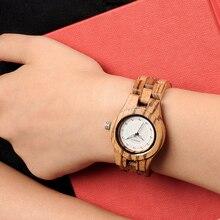 BOBO BIRD النساء الساعات السيدات زيبرا الخيزران الخشب ساعة عادية السيدات ساعة اليد relogio feminino هدية عيد ميلاد عيد الميلاد O29
