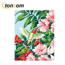 RIHE Blooming Flowers Drawing By Numbers Bright Sunshine DIY Painting Handwork On Canvas Oil Art Coloring For Home