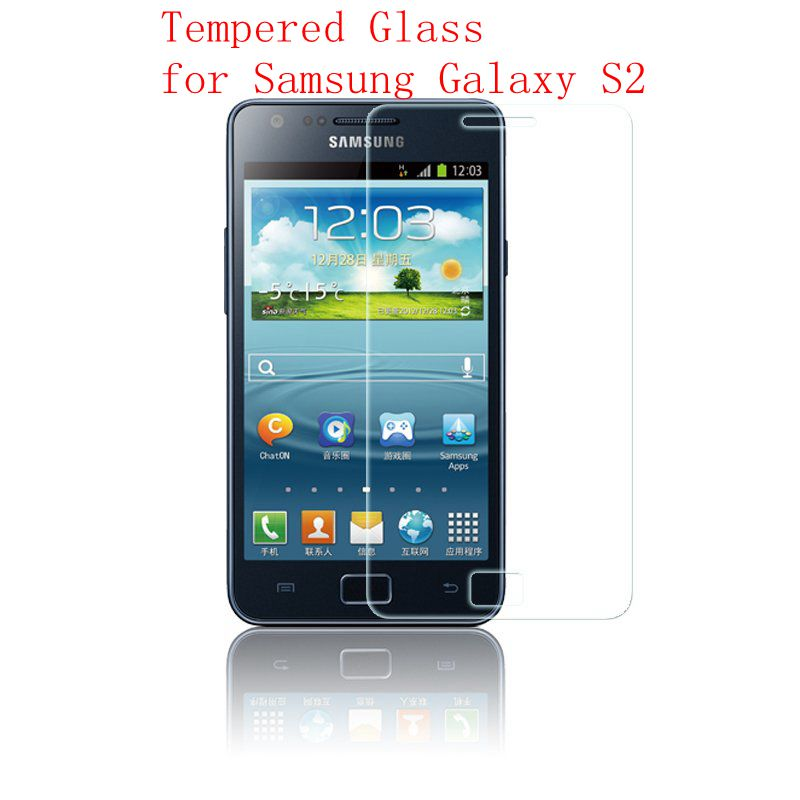 For Samsung S2 Screen Protector Protective Film Tempered Glass for Galaxy GT i9100 S II S2 plus GT-i9100 9100 Case cover