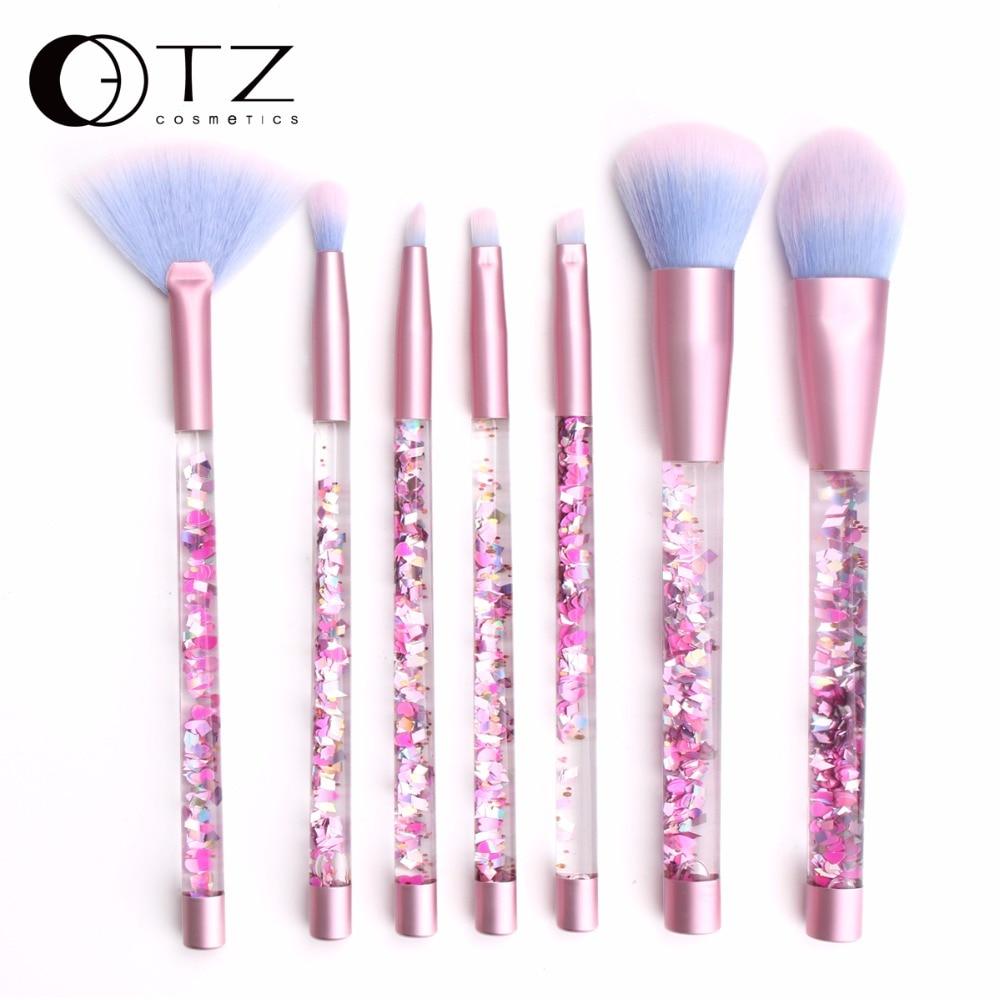 AQUARIUMB Liquid Glitter Makeup Brush Set Highlighter Brushes Concealer Fiber Double Colors Make up Brush Mermaid