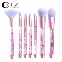 Makeup Brushes Set Eyebrow Highlighter Eyeshadow Powder Fan Concealer Lip Brushes Fiber Pink Make Up Brush