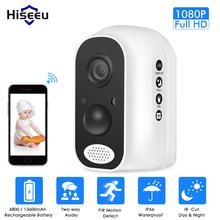 Hiseeu 13600mAh סוללה IP מצלמה 1080P HD אלחוטי WIFI מצלמה 2.0mp אבטחת בית וידאו Survelliance עמיד למים PIR מעורר