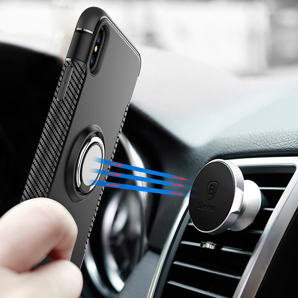 new products 0f9b6 d5abd US $3.47 39% OFF|YOYO DEER Case for iPhone X Car Holder Stand Magnetic  Finger Ring TPU + PC Cover for Apple iPhoneX iPhone XS Max XR Phone  Cases-in ...