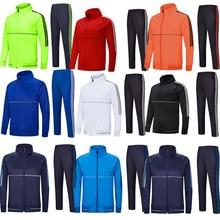 Новая мужская и Детская футбольная тренировочная одежда с длинными рукавами длинные спортивные футбольные трикотажные штаны, брюки, куртка 6807