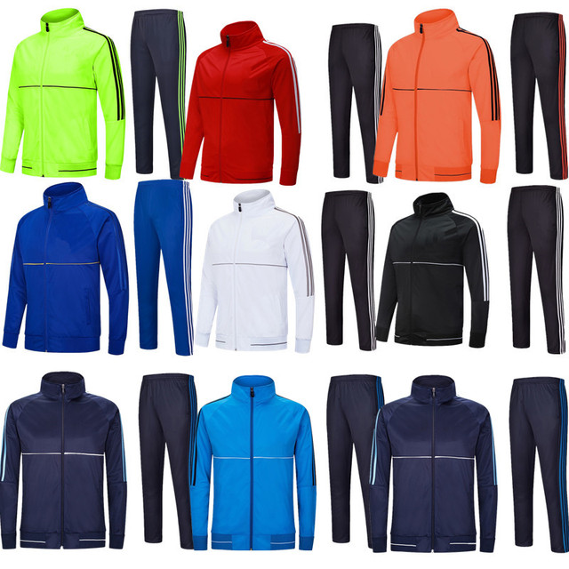 New men s and children s long-sleeved soccer training clothes long sports soccer  jersey leg pants eeb94b29c