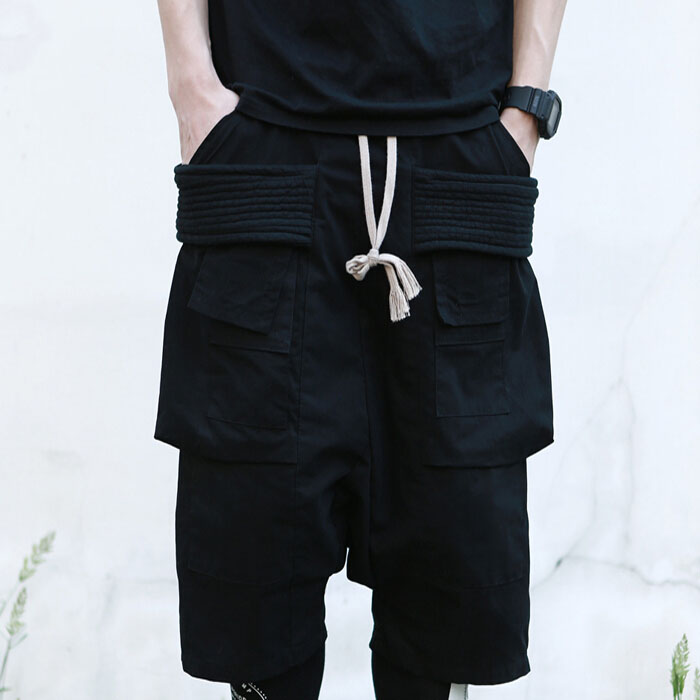 In 2017 the big yards men s trousers 27-44 Spring and summer shorts male rickowens multi ...