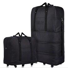 Große kapazität Drei Tier Erweiterbar falttasche Oxford stoffbeutel universal rad Sendung durch Luft reisetaschen gepäck taschen