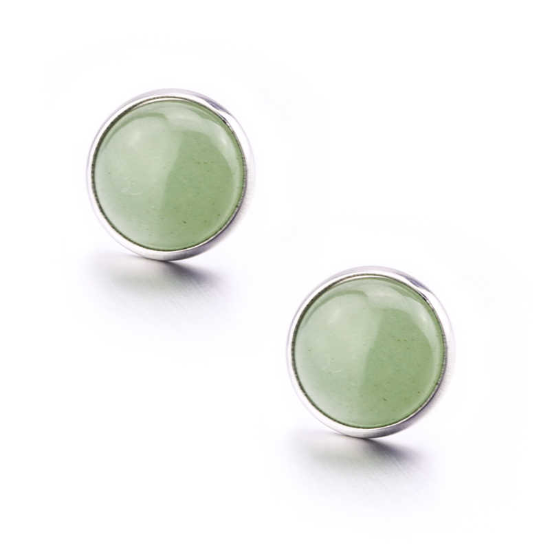 Fashion 8MM 10MM 12MM Round Natural stone  Earrings  For Women Jewelry
