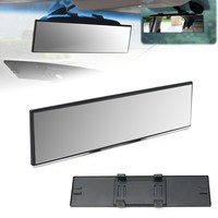 300mm Universal Wider Range Flat Interior Clip On Panoramic Rear View Mirror NEW