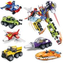 SLPF Children Educational Legoing Spell Inserting Building Blocks Toys Six In One Fit Assembling Robot Model Deformation Toy C24 цены