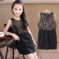 Girls Dresses With Sequins Stylish Black Kids Dress For Girls Children's Holiday Gifts Children Clothing