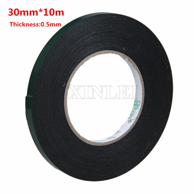 5pcs 30mm x 10m adhesive tape double sided foam tape automotive grade adhesive ultra fort