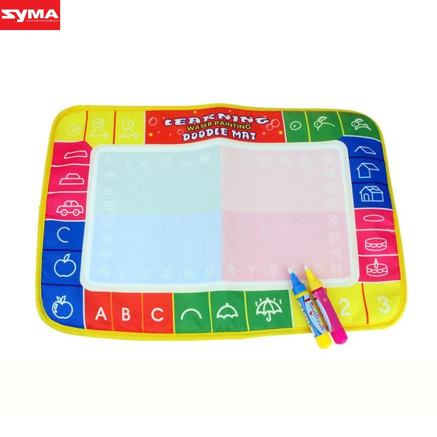 SYMA Drawing toys New Water Painting Writing Mat Board Magic Pen Doodle Toy Gift 46 x 30cm water drawing toys mat dec21
