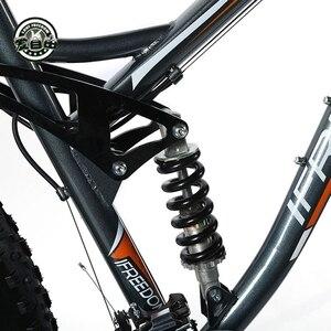 Image 5 - אהבת חופש גבוהה באיכות אופניים 21/24 מהירות אופני הרים 26 אינץ 4.0 שומן צמיג שלג אופני דיסק כפול הלם קליטה אופניים