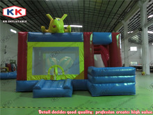 popular high quality inflatable trampoline/ inflatable jumping bouncer for school