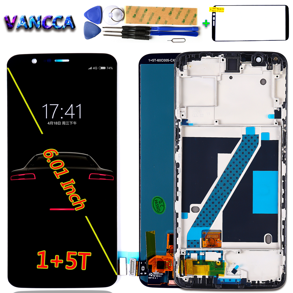 100 Tested LCD Display For Oneplus 5T A5010 touch screen 2160 1080 Digitizer Assembly 6 01