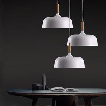 Led Pendant Lights/pendant Lamps Modern Hanglamp Aluminum Suspension Luminaire Wood Hanging Lightings Kitchen Dining Room