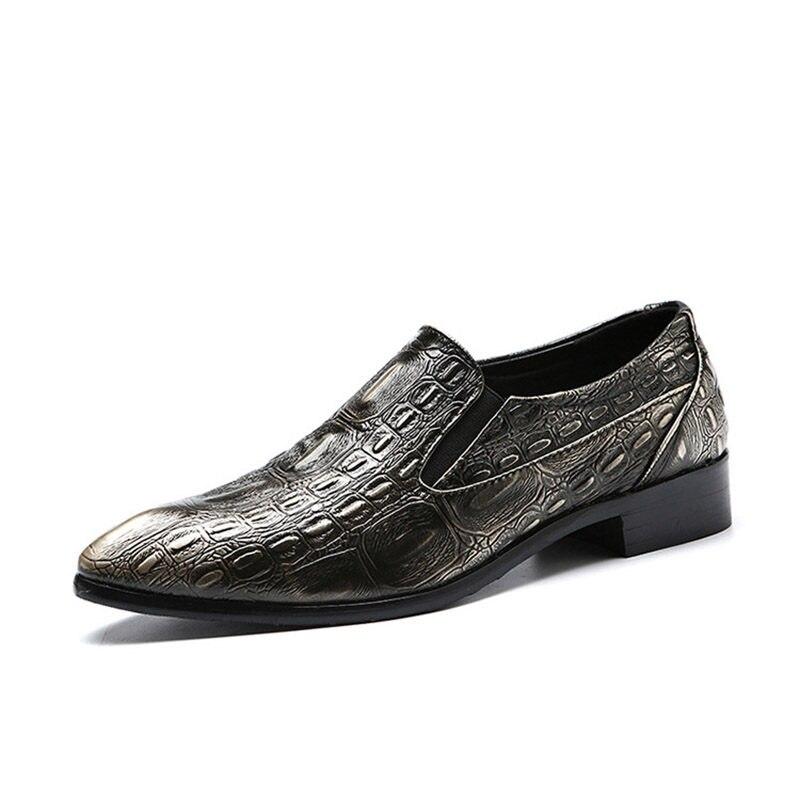 Mâle Loafer Taille Luxe Cuir Italien Appartements Men Dropship Black Crocodile Oxford Mariage Angleterre 48 Grande 37 red De brown Chaussures Merkmak En Formelle Loafer Hommes D'affaires Loafer BanfOww0