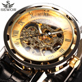 SEWOR Classic Male Clock Skeleton Watches Men Mechanical Hand Wind Relogio Masculino Leather Strap Wristwatches Men Casual Watch