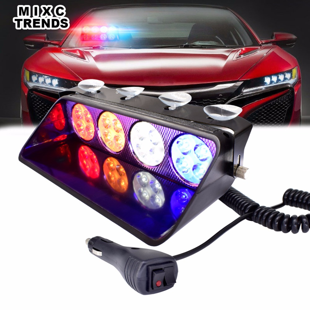 Led Strobe Light Windshield Car Flash Signal Emergency Dash Warning Light Fireman Police Beacon Truck Stroboscopes Flasher Light s4 viper car windshield led strobe light flash signal emergency fireman police beacon warning light red blue amber white