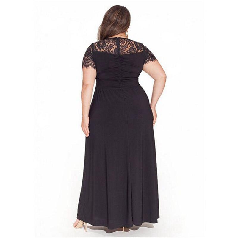 Plus Size Summer Long Maternity Dress For Pregnant Women Clothes Lady Dresses Short Sleeve Lace Pregnancy Dress Gravidas Vestido Best Sale Black