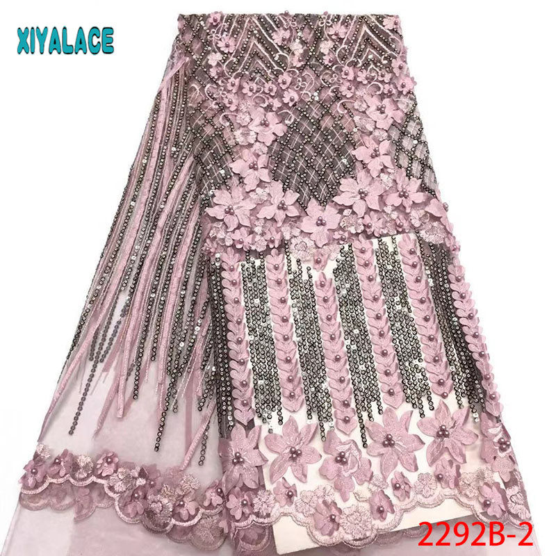 3d Tulle Lace Fabric Latest Afrian Bridal Lace Fabric High Quality Embroidery African French Tulle Lace Fabric 5yards PGC2292B 2-in Lace from Home & Garden    1